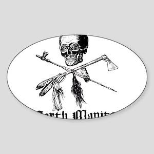North Manitou Pirate Oval Sticker