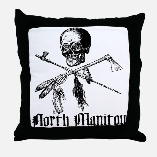 North Manitou Pirate Throw Pillow