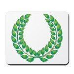 Green Laurel on White Mousepad