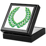 Green Laurel on White Keepsake Box