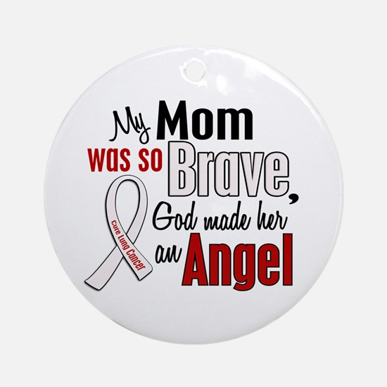 Angel 1 MOM Lung Cancer Ornament (Round)
