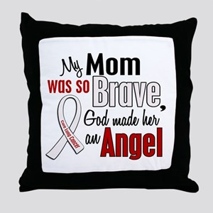 Angel 1 MOM Lung Cancer Throw Pillow