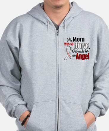 Angel 1 MOM Lung Cancer Zip Hoodie