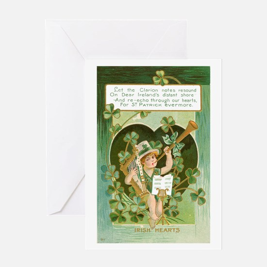 Irish Hearts Greeting Card
