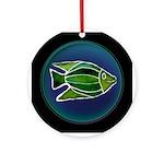 Batik Fish Ceramic Round Ornament