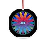 Joy! Rainbow Mandala Ceramic Round Ornament