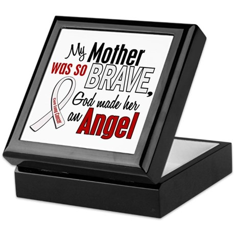Angel 1 MOTHER Lung Cancer Keepsake Box