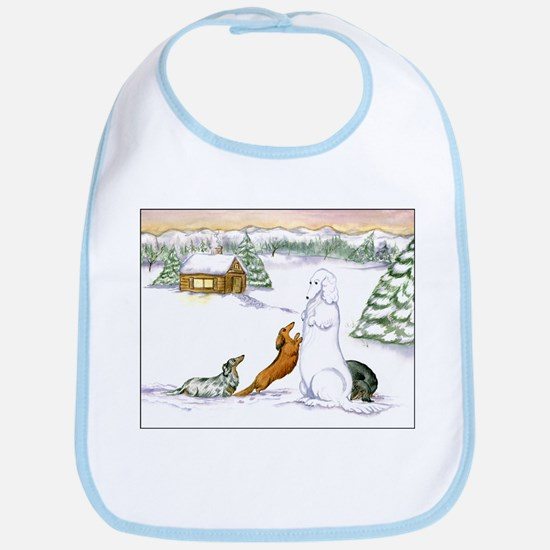 Longhaired Snow Dachshunds Bib