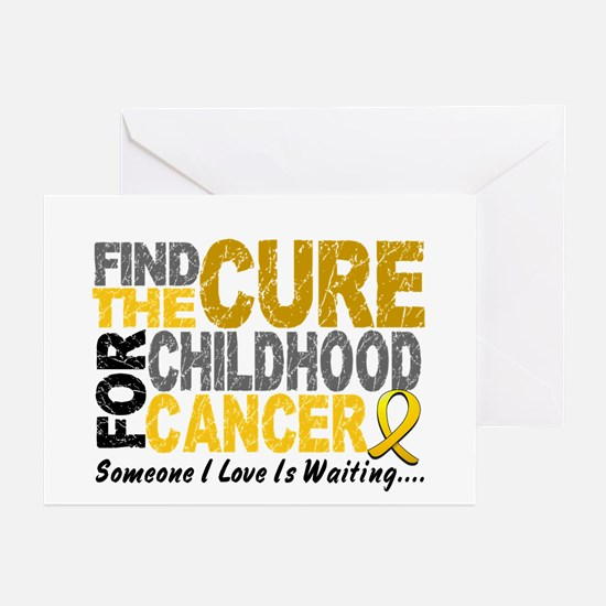 Find The Cure 1 CHILD CANCER Greeting Cards (Pk of