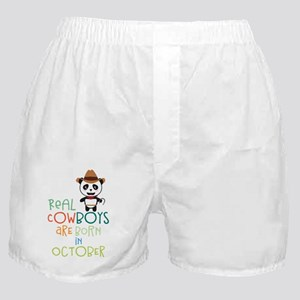 Real Cowboys are born in October Cecn Boxer Shorts