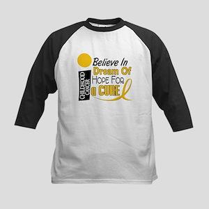 BELIEVE DREAM HOPE Child Cancer Kids Baseball Jers