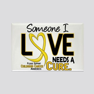 Needs A Cure 2 CHILD CANCER Rectangle Magnet