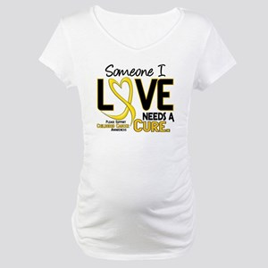 Needs A Cure 2 CHILD CANCER Maternity T-Shirt