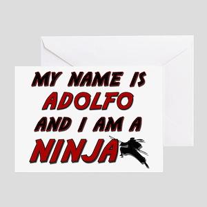my name is adolfo and i am a ninja Greeting Card