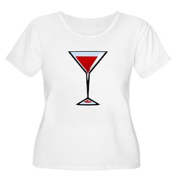 Vampire Martini Women's Plus Size Scoop Neck T-Shi
