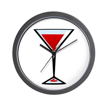 Vampire Martini Wall Clock