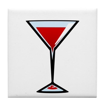 Vampire Martini Tile Coaster