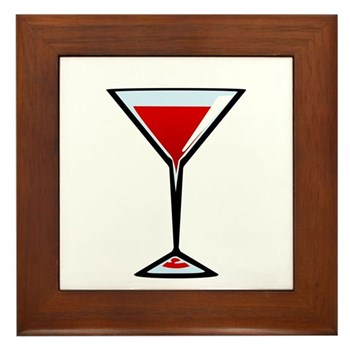Vampire Martini Framed Tile
