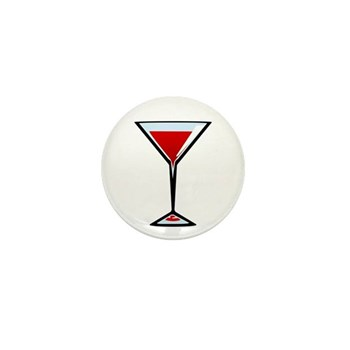 Vampire Martini Mini Button