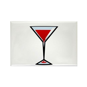 Vampire Martini Rectangle Magnet