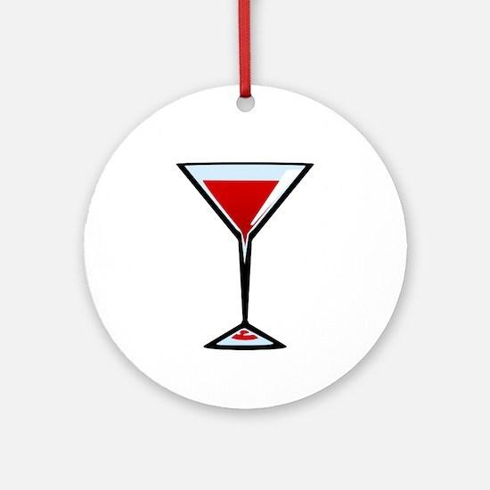 Vampire Martini Round Ornament