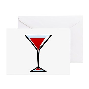 Vampire Martini Greeting Cards (Pk of 10)