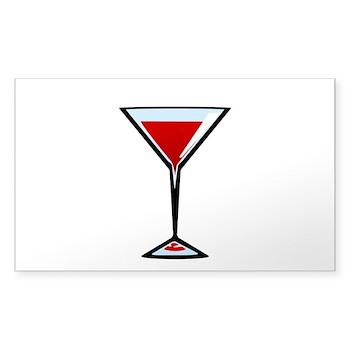 Vampire Martini Rectangle Sticker 50 pk)