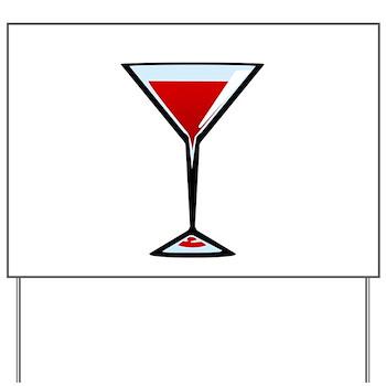 Vampire Martini Yard Sign