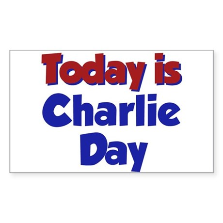 Today Is Charlie Day Rectangle Sticker