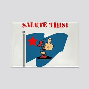 Salute This! Rectangle Magnet
