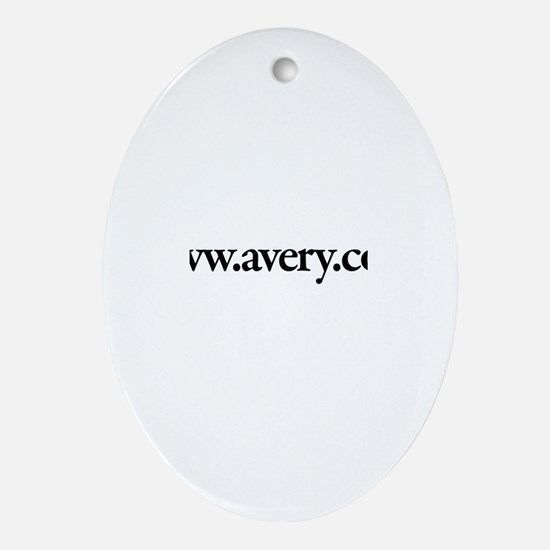 www.Avery.com Oval Ornament