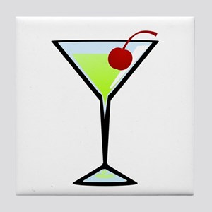 Green Apple Martini Tile Coaster