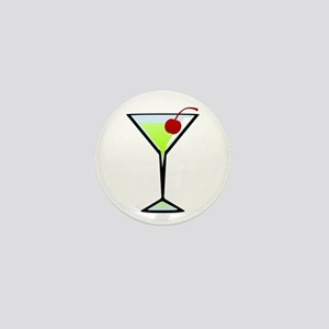 Green Apple Martini Mini Button