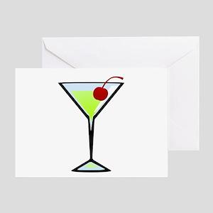 Green Apple Martini Greeting Card