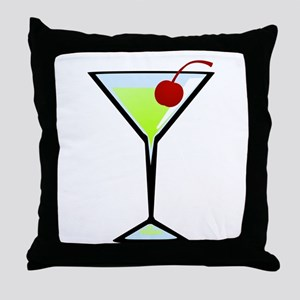 Green Apple Martini Throw Pillow