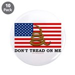 "Don't Tread on Me 3.5"" Button (10 pack)"