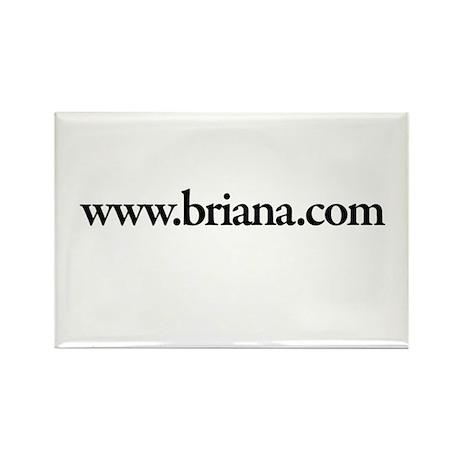 www.Brianna.com Rectangle Magnet