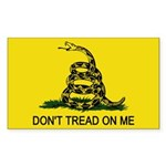 Don't Tread on Me Rectangle Sticker 50 pk)