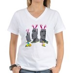Easter Island Women's V-Neck T-Shirt