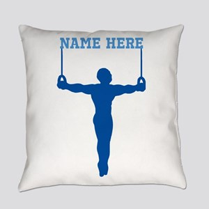 Personalized Rings Gymnast Everyday Pillow