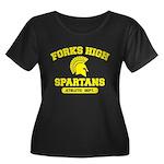 Fork High Women's Plus Size Scoop Neck Dark T-Shir