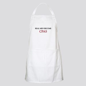 Real Men Become Cpas BBQ Apron