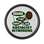 Socialist Networking Large Wall Clock