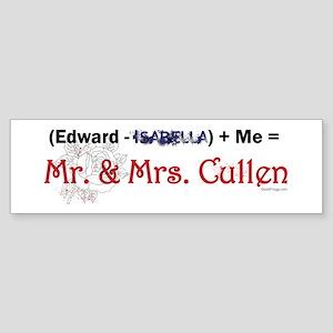 Edward Minus Isabella Bumper Sticker