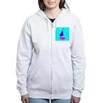 Sailing Sailboat Women's Zip Hoodie Sweatshirt
