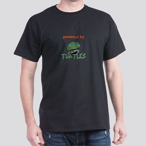 Powered By Turtles Black T-Shirt