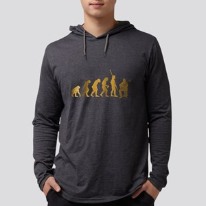Classical Guitarist Mens Hooded Shirt