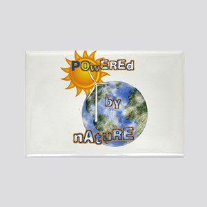 Powered By Nature Rectangle Magnet