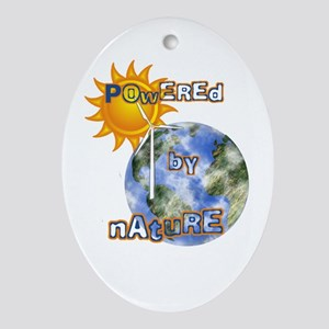 Powered By Nature Oval Ornament