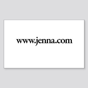 www.Jenna.com Rectangle Sticker